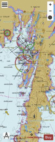 B  Clift Sound and Approaches to Scalloway Marine Chart - Nautical Charts App