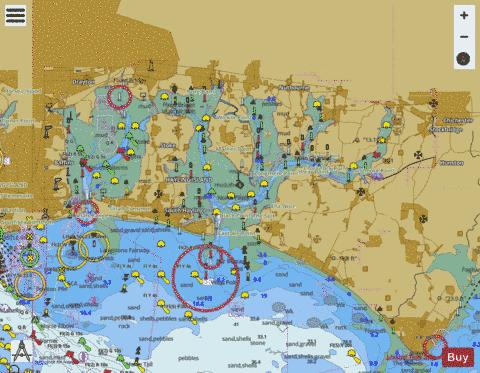 Langstone and Chichester Harbours Marine Chart - Nautical Charts App