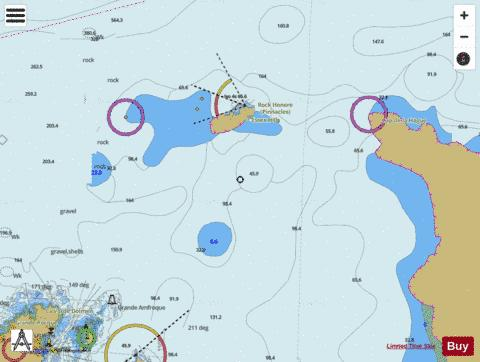 Guernsey to Alderney and Adjacent Coast of France Marine Chart - Nautical Charts App