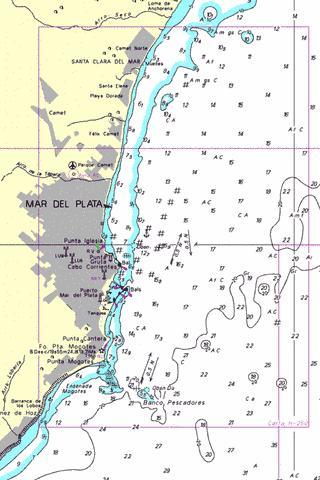 Rada Mar del Plata Marine Chart ARH25001 Nautical Charts App