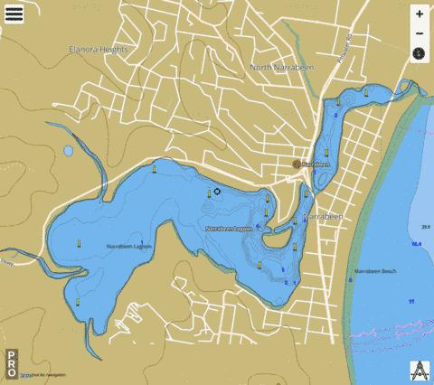 Narrabeen Lagoon Fishing Map - i-Boating App