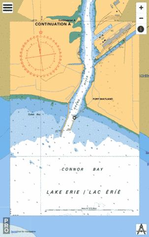 PORT MAITLAND TO/� DUNNVILLE - CONTINUATION A Marine Chart - Nautical Charts App