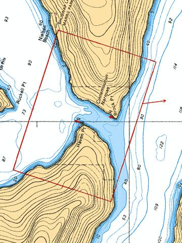 CINNEMOUSIN NARROWS Marine Chart - Nautical Charts App