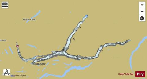 Quesnel Lake Fishing Map - i-Boating App