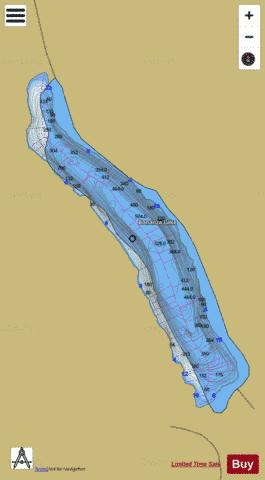 Bonanza Lake Fishing Map - i-Boating App