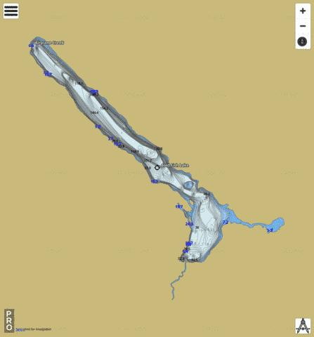 Cold Fish Lake Fishing Map - i-Boating App