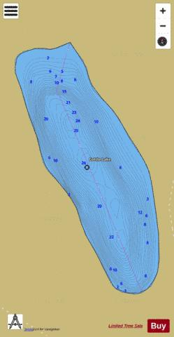 Cottle Lake Fishing Map - i-Boating App