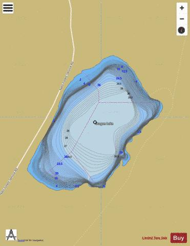 Dragon Lake Fishing Map - i-Boating App
