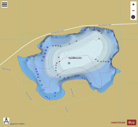 Dry William Lake Fishing Map - i-Boating App