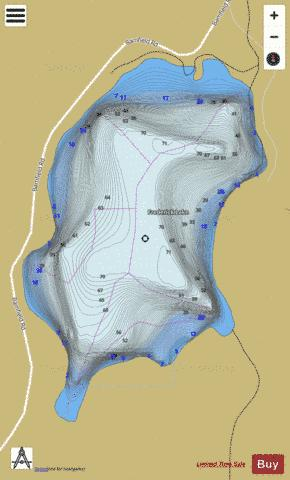 Frederick Lake Fishing Map - i-Boating App