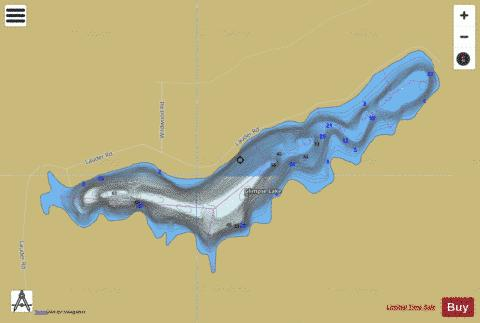 Glimpse Lake Fishing Map - i-Boating App