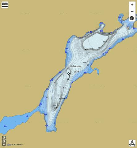 Hallett Lake Fishing Map - i-Boating App