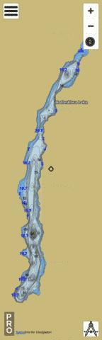 Hotlesklwa Lake Fishing Map - i-Boating App