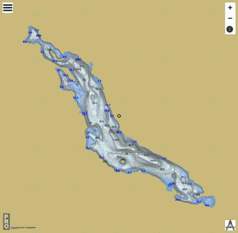 Johanson Lake Fishing Map - i-Boating App