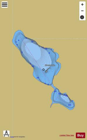 Karena Lake Fishing Map - i-Boating App