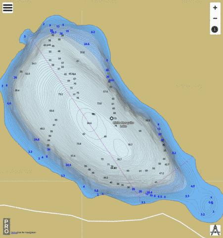 Little Mosquito Lake Fishing Map - i-Boating App