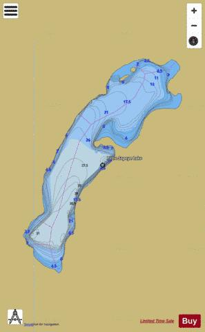 Little Sapeye Lake Fishing Map - i-Boating App