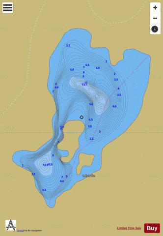 Lois Lake Fishing Map - i-Boating App