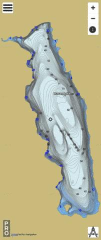 Maxan Lake Fishing Map - i-Boating App
