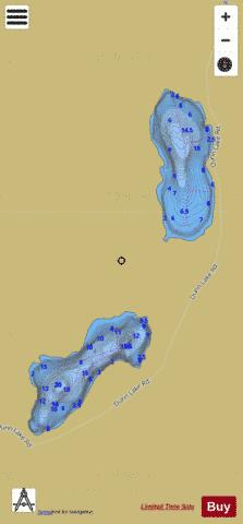 Mctaggart Lakes Fishing Map - i-Boating App