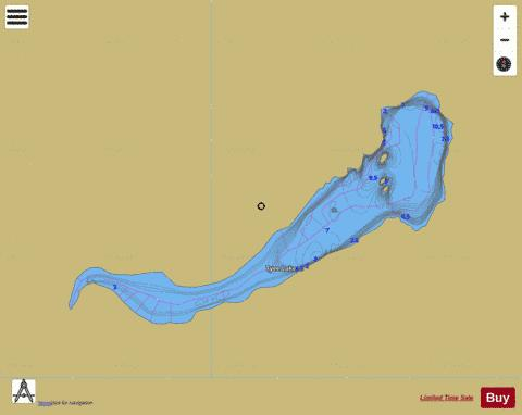 Tyee Lake Fishing Map - i-Boating App
