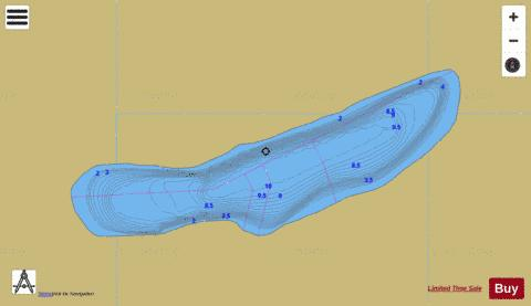 Unnamed Lake No 34 Fishing Map - i-Boating App