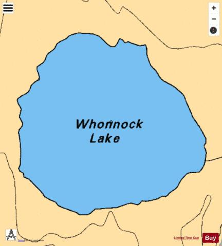 Whonnock Lake Fishing Map - i-Boating App