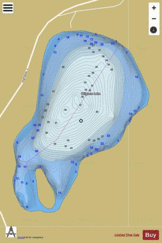 Wilgress Lake Fishing Map - i-Boating App