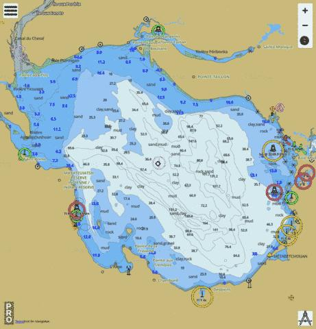 Lac Saint-Jean Marine Chart - Nautical Charts App
