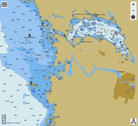La Grande D�charge et les approches\and approaches Marine Chart - Nautical Charts App