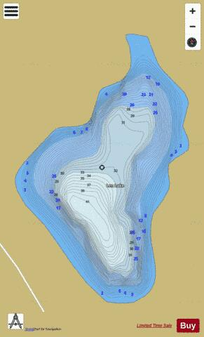 L & F 30, Len lake Fishing Map - i-Boating App
