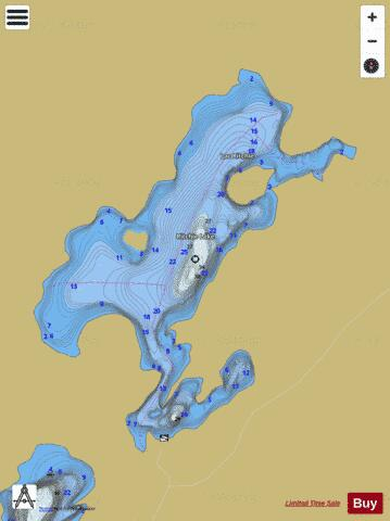 Ritchie Lake Fishing Map - i-Boating App
