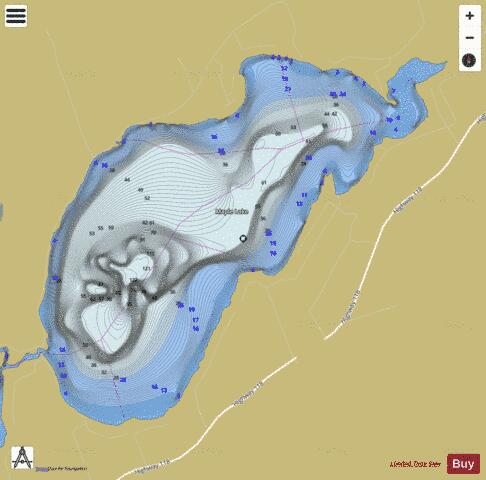 Maple Lake Fishing Map - i-Boating App