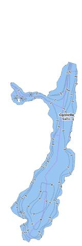 Ogahalla Lake Fishing Map - i-Boating App
