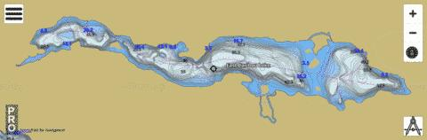 East Caribou Lake Fishing Map - i-Boating App