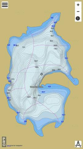 Town Line Lake Fishing Map - i-Boating App
