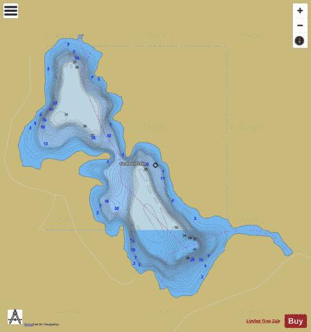 Cardwell Lake Fishing Map - i-Boating App