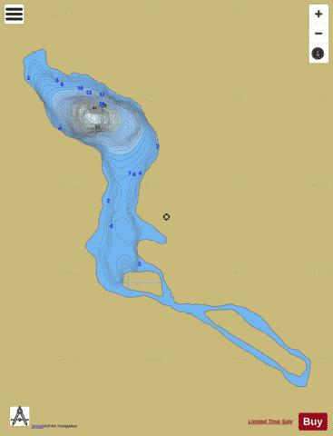 Lake No 1, Hoffman Fishing Map - i-Boating App