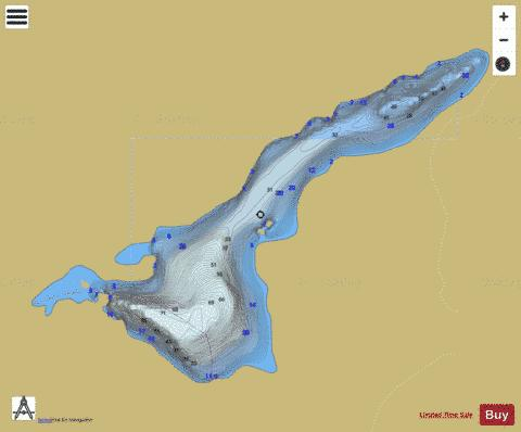 Roothouse Lake Fishing Map - i-Boating App