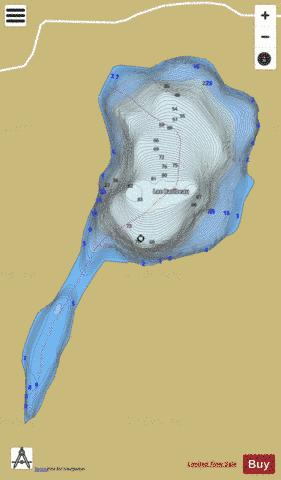 Baribeau Lac Fishing Map - i-Boating App