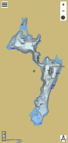 Coeurs Lac Des Fishing Map - i-Boating App