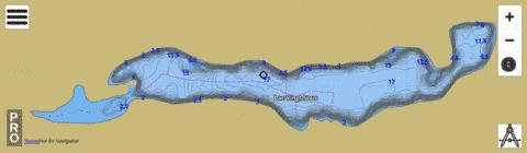 Lac Vingt Sous Fishing Map - i-Boating App