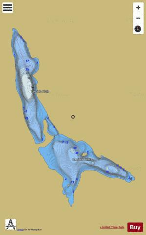Lac A La Pointe Et Lac A La Pluie Fishing Map - i-Boating App