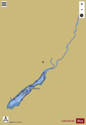 Travers Lac Fishing Map - i-Boating App