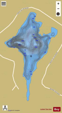 Noiret, Lac Fishing Map - i-Boating App