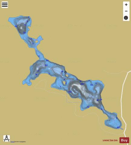 Travers, Lac Fishing Map - i-Boating App