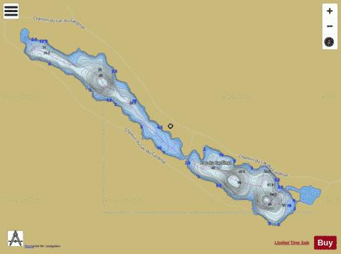 Cardinal, Lac du Fishing Map - i-Boating App
