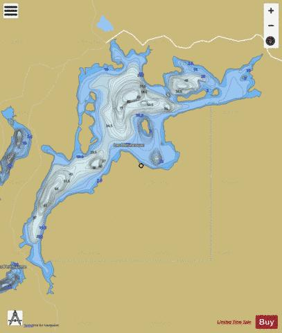 Metascouac, Lac Fishing Map - i-Boating App