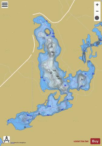 Ludger, Lac Fishing Map - i-Boating App