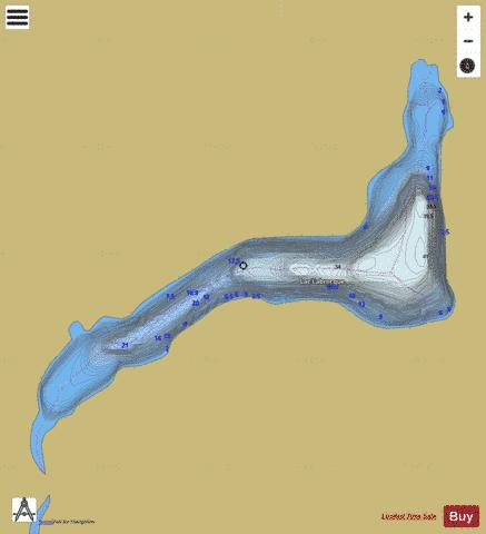 Labrecque, Lac Fishing Map - i-Boating App